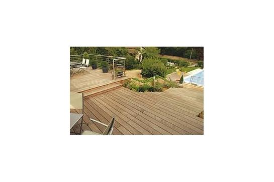 Lame terrasse bois acacia robinier 22 120mm 1m 2 50m 3m - Lame de terrasse en robinier ...