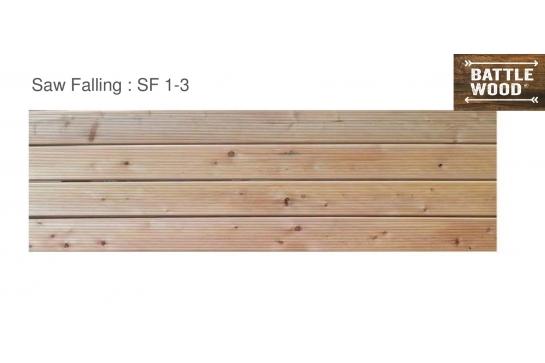 Lames de Terrasse mélèze de Sibérie 28*145 en 2-3-4-6m choix SF1-3