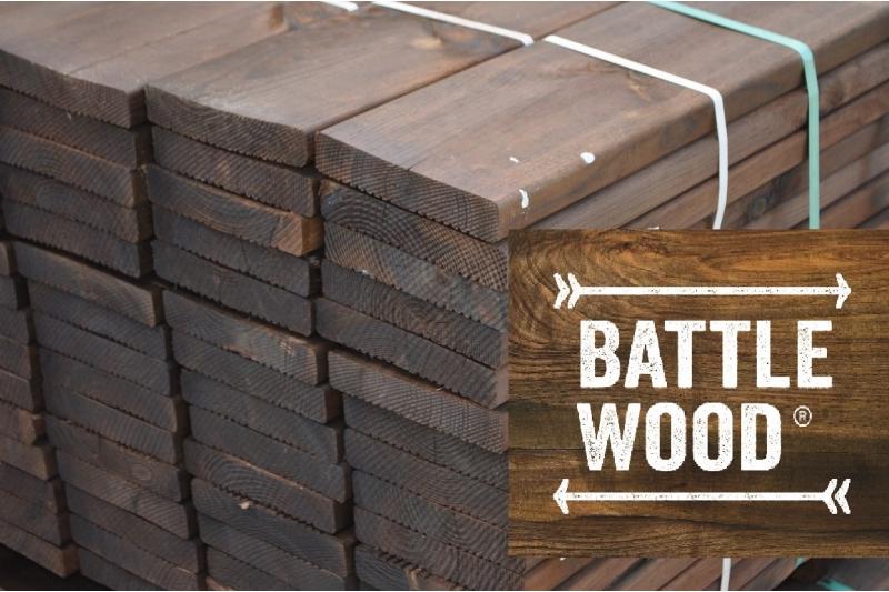 Terrasse bois pin syslvestre autoclav classe 4 vert et marron en 27x145 en 3 - Terrasse pin autoclave ...