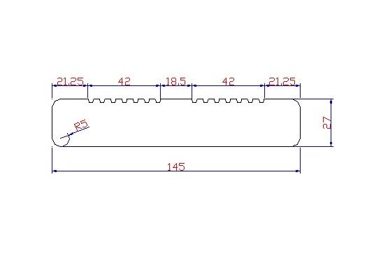 Lame de Terrasse Mélèze de Sibérie choix select 0A 27 x 145 raboté double peigne en 6m