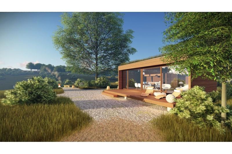 micro mini maison 37m rest house 100 bois lodge golf. Black Bedroom Furniture Sets. Home Design Ideas
