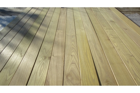 Lame Terrasse bois Acacia Robinier 27*120 mm abouté durable stable ...