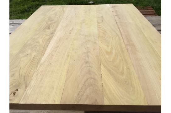 Plateau panneau tablette plan de travail en ch ne massif for Tablette bois acacia