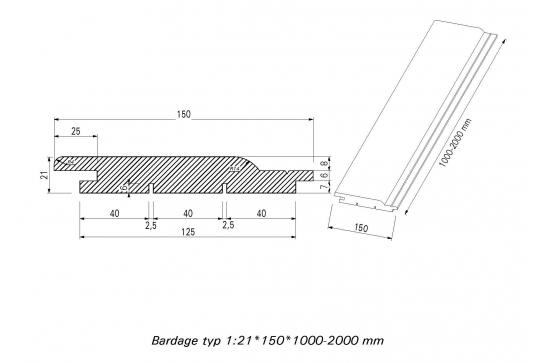 Bardage Douglas Battlewood 21x 125