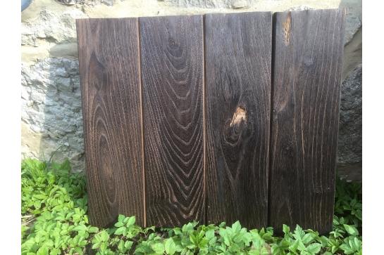 Bardage acacia bois brûlé