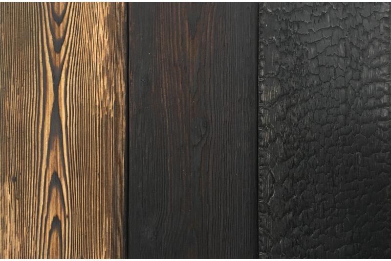 bardage lambris bois massif bross br l flamm avec. Black Bedroom Furniture Sets. Home Design Ideas