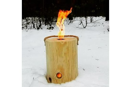Bûche flambeau d'ambiance : bûche suédoise