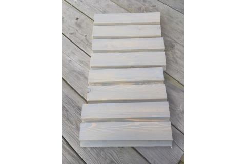 Tasseau carré ou rectangle bois Gris vieux Noir