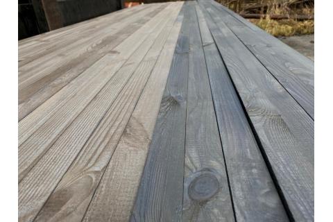 Bardage tasseau carré pré-grisé pin du Nord Scandinavie raboté 42x42 mm ou 36x36mm