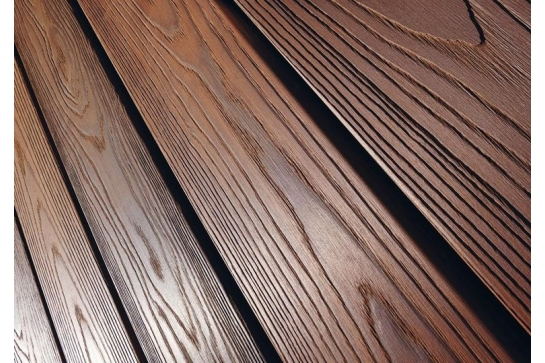 Terrasse frêne thermo chauffé traité Battlewood.com